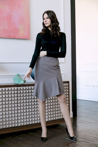 Фото юбка с асимметричным передом и прямым силуэтом - Юбка Б146-158 (1)