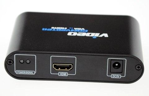 Переходник VGA+3.5mm audio в HDMI конвертер 1080P