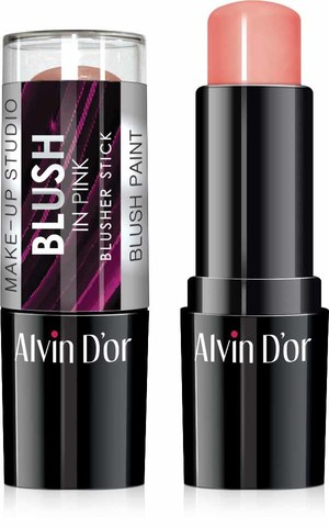 Alvin D`or BS-1 Стик румяна blusher stick 9гр ( 02 натуральный розовый)