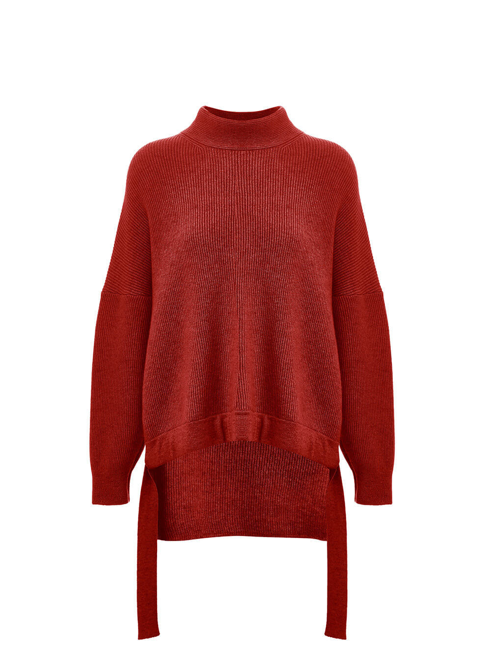 Женский свитер красного цвета из 100% кашемира - фото 1