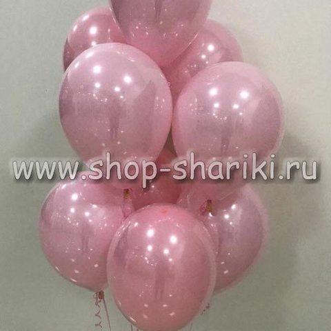 Розовые стеклянные шары
