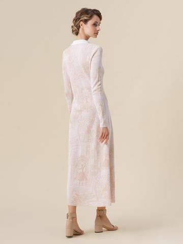 Женское платье молочного цвета из вискозы - фото 2