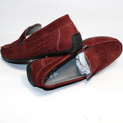 Мужские мокасины в дырочку IKOC 1555-3 Red.