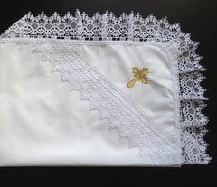 Крестильный набор  Кружева  (с пеленкой)