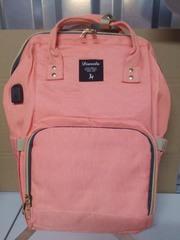 Mommy Bag. Сумка-рюкзак для мамы, персик вид 5