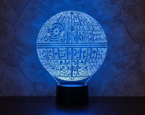 3D ночник Звезда смерти