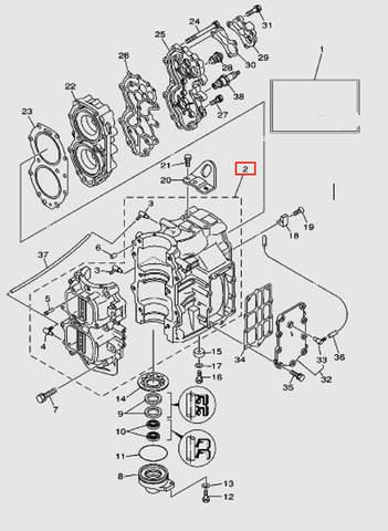 Цилиндры для лодочного мотора T40 Sea-PRO (2-2*)