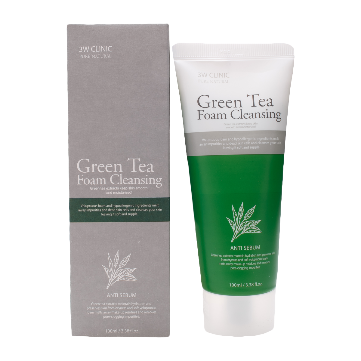 Очищение кожи Пенка для умывания 3W Clinic Green Tea Foam Cleansing, 100 мл import_files_a3_a3ef38275b1d11e980fb3408042974b1_254234bb5c6f11e980fb3408042974b1.png