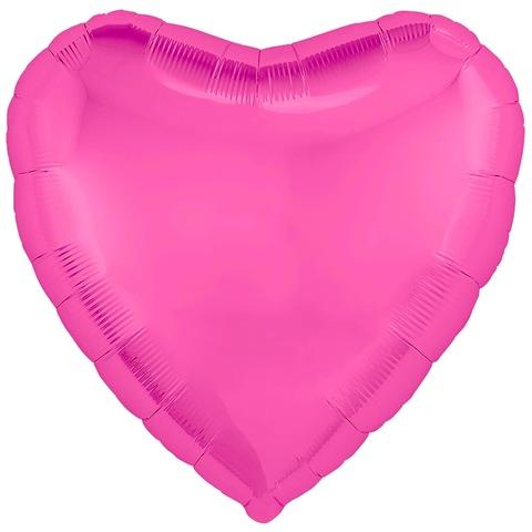 Воздушный шар сердце большое, Розовый пион, 76 см