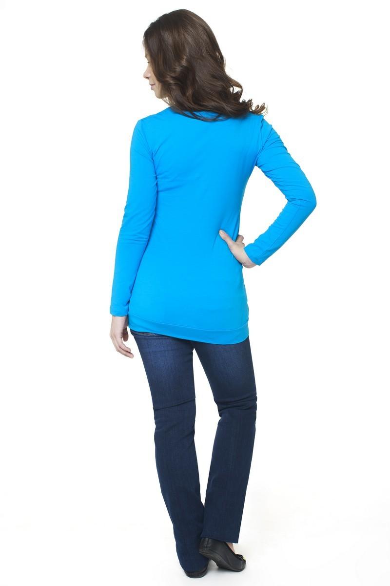 Блузка для беременных 06404 бирюзовый