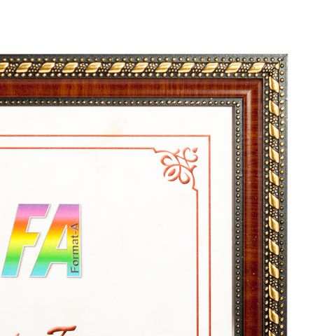 Фоторамка Золото-mix 21х30 Формат-А (коричневый)
