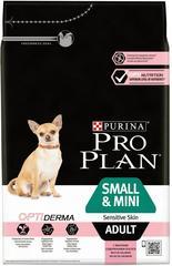 Сухой корм, Purina Pro Plan, для взрослых собак мелких и карликовых пород с чувствительной кожей, с лососем и рисом