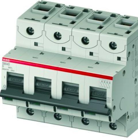 Автоматический выключатель 4-полюсный 16 А, тип D, 25 кА S804S D16. ABB. 2CCS864001R0161