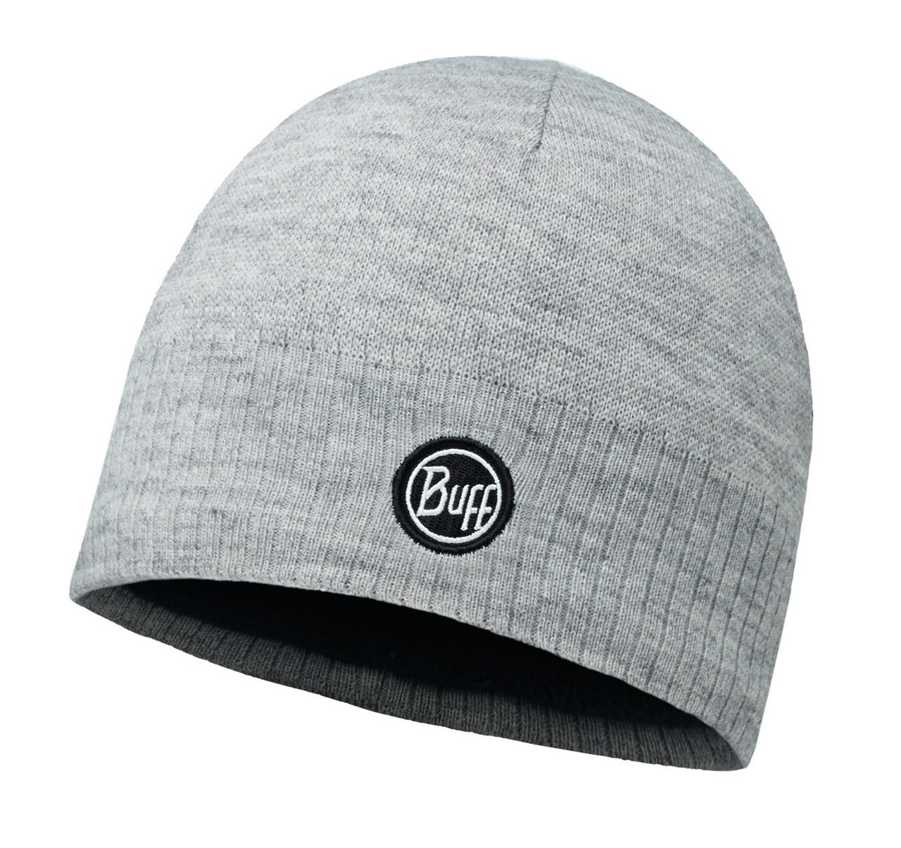 Шапки средней вязки Вязаная шапка с флисовой подкладкой Buff Taos Melange Grey 113340.938.10.00.jpg