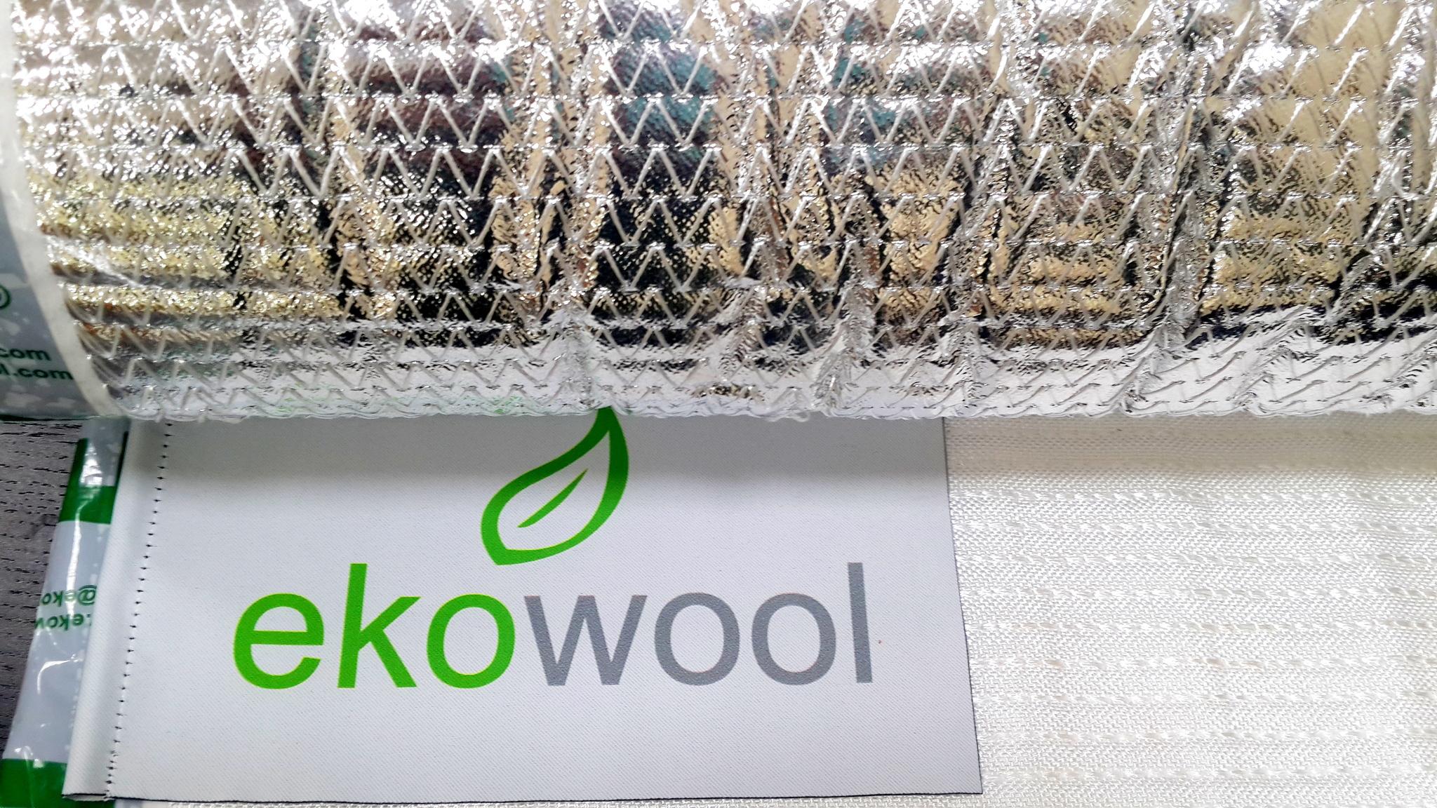 кремнеземный мат ЭКОВУЛ с тканью  и фольгой (EKOWOOL M1F1)