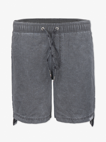 Винтажные пляжные шорты «Тёмный графит с длинным лампасом «ВЕЛИКОРОСС»