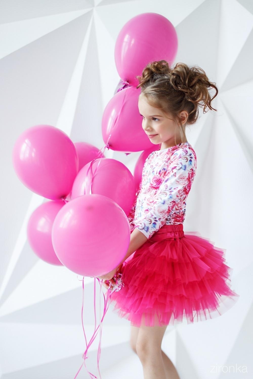 Комплект (блузка, юбка) для девочки 64-7005-3