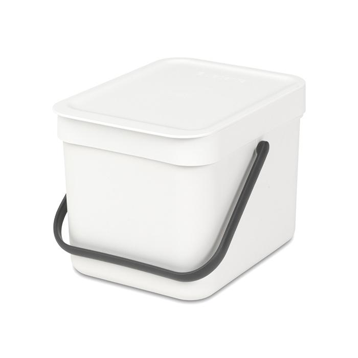 Встраиваемое мусорное ведро Sort & Go (6 л), Белый, арт. 109706 - фото 1