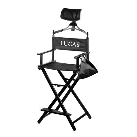 Кресло визажиста с подголовником LUCAS (алюминий)