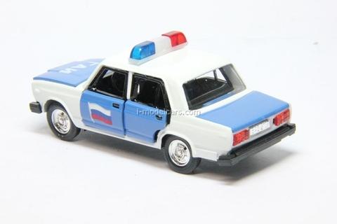 VAZ-2107 Lada GAI Police Russia with plafond Agat Mossar Tantal 1:43