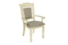 """Кресло """"Шарлиз (CHARLIZE)"""" с мягким сиденьем и спинкой —  Ivory (Кремовый с темной патиной) (MK-4521-IV)"""