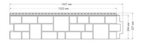 Фасадная панель Гранд Лайн Я-ФАСАД Камень Железо 1407х327 мм