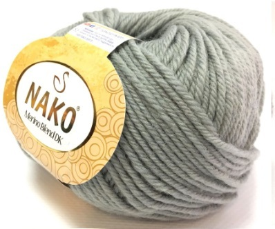 Пряжа Nako Merino Blend DK 3298 светло-серый