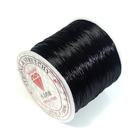 Спандекс резинка для браслетов (без оплётки) 0,8 мм катушка 50 метров черный