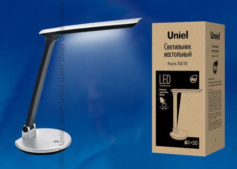 TLD-512/6W/Светильник настольный LED/550Lm/4500K/С диммером/Цвет-серебристый