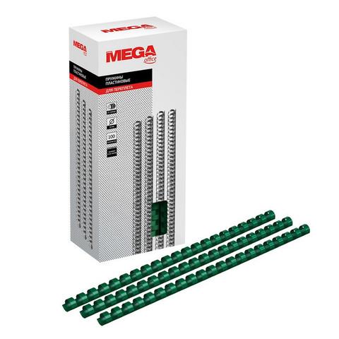 Пружины для переплета пластиковые Promega office 12 мм зеленые (100 штук в упаковке)