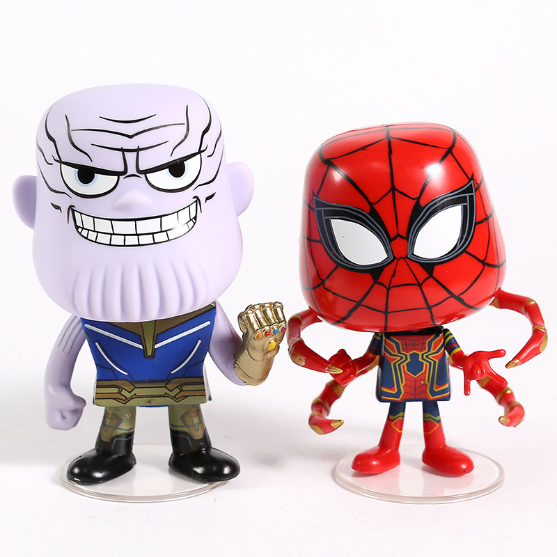 Мстители фигурки Танос и Железный Паук Человек