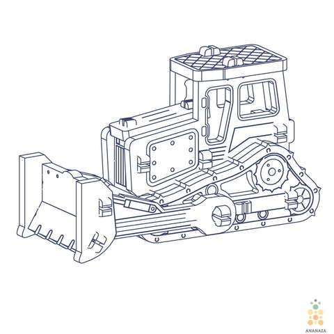 Трактор UNIT (UNIWOOD) - Деревянный конструктор, 3D пазл, сборная модель
