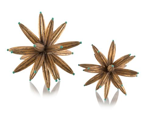 Set of Two Golden Sprites