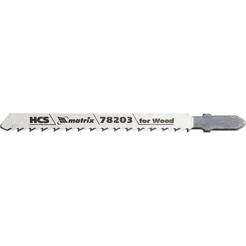 Полотна для электролобзика по дереву, 3 шт, T101BR, 75 х 2,5 мм, обратный зуб, HCS Matrix Professional