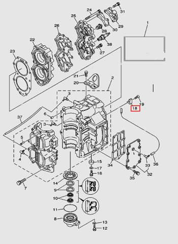 Анод для лодочного мотора T40 Sea-PRO (2-18)