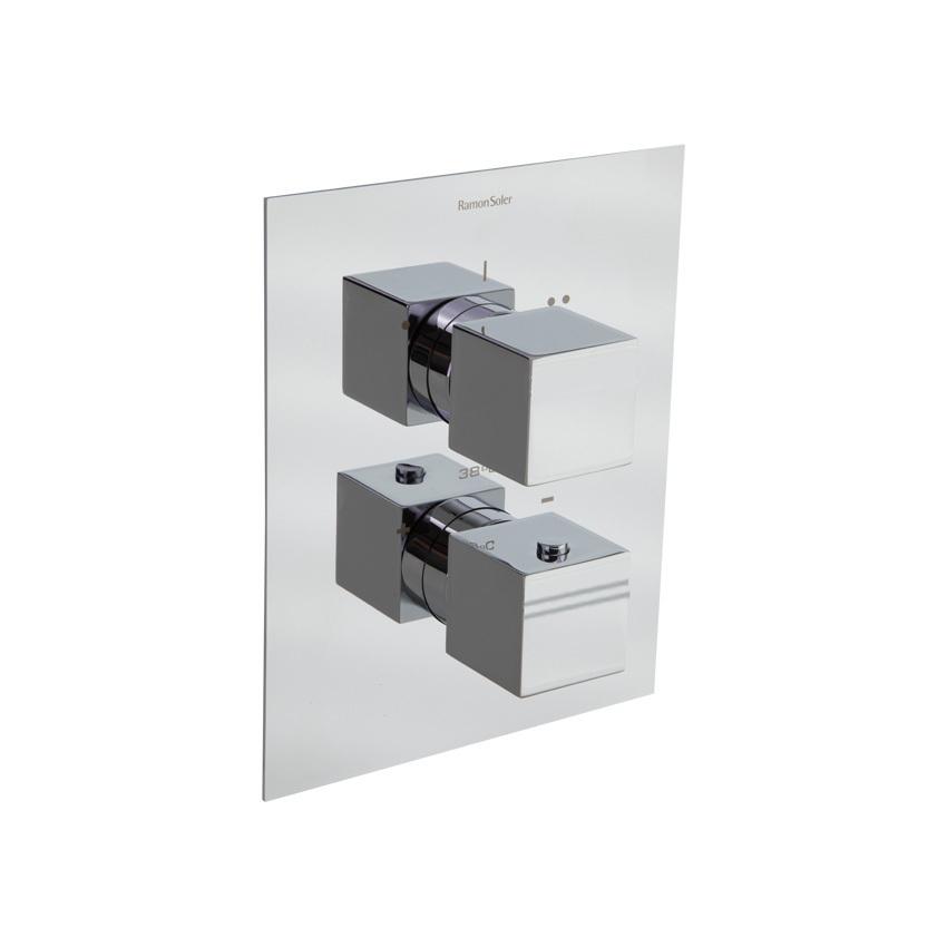 Встраиваемый термостатический смеситель для душа KUATRO 478712S на 2 выхода