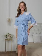 Vivamama. Комплект для беременных и кормящих Olivia, голубой меланж вид 3