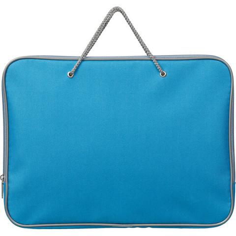 Папка-портфель Attache нейлоновая А4 голубая (340x260 мм, 1 отделение)