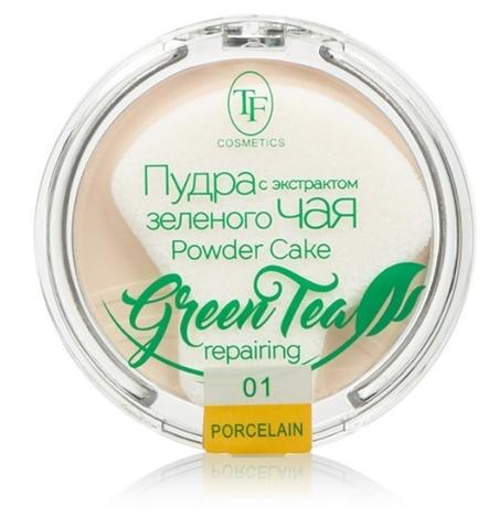 ТФ Пудра компактная для лица с экстрактом зеленого чая тон 01 фарфоровый ТР-16