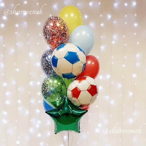 Фонтан Цветной Футбол