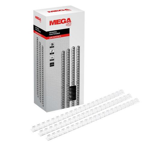 Пружины для переплета пластиковые Promega office 12 мм прозрачные (100 штук в упаковке)