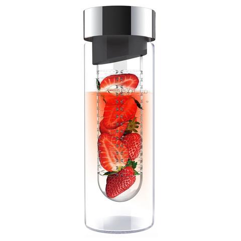 Бутылка Asobu Flavour it (0,48 литра), серая
