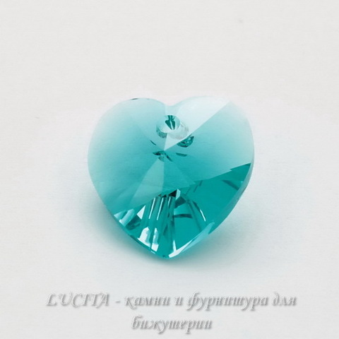 6228 Подвеска Сваровски Сердечко Blue Zircon (14,4х14 мм)