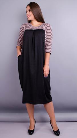 Роксолана. Оригинальное платье больших размеров. Пудра.