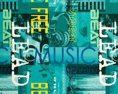 Велюр Music azure (Мьюзик ажур)
