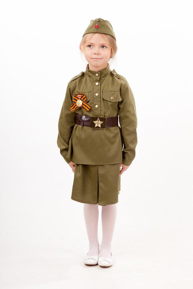 Военный костюм детский Солдатка с ленточкой