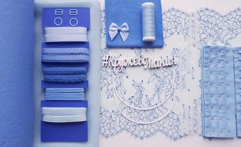 Набор 4. Бюстье и трусики. Голубой