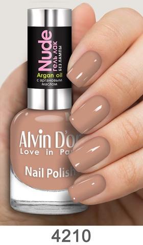 Alvin D`or Лак для ногтей Гель NUDE  тон 4210