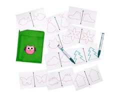 Многоразовые карточки для рисования двумя руками, Smile Decor