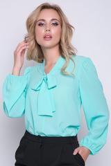 """<p>Хит сезона! Ультра модная модель для уверенной в себе дамы. Рукав длинный """"баллон"""" Ворот - бант.</p>"""